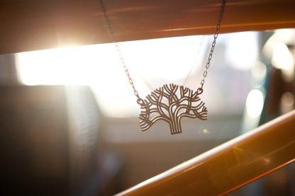 Lasercut Bamboo Oakland Pendant