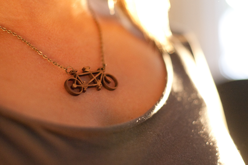 Tandem Bicycle Pendant