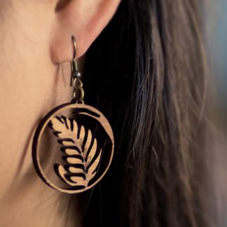 latte art rosetta earring