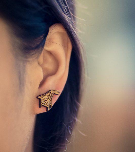 Oakland Crane Stud Earrings by Antietam Designs