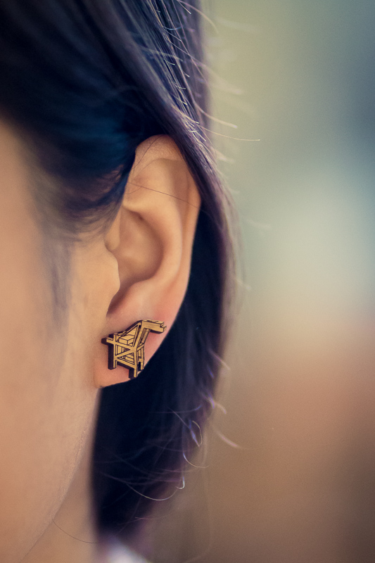 Oakland Crane Stud Earrings by Antietam Designs