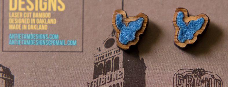 Lake Merritt Stud Earrings by Antietam Designs