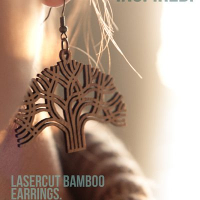 ANTIETAM DESIGNS: Lasercut Bamboo Earrings. Designed in Oakland. Made in Oakland.