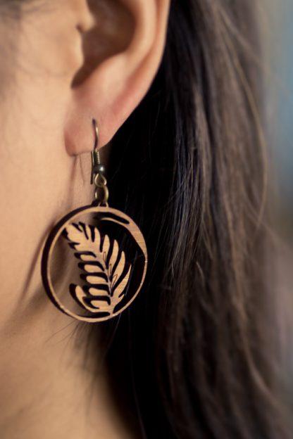 latte art rosetta earring